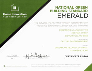 CERTIFIED EMERALD with National Green Building Standard